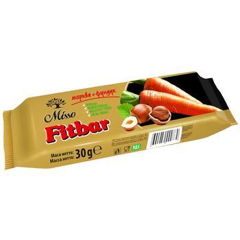 Misso Fitbar Carrots+Hazelnuts Bar 30g