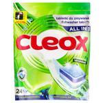 Таблетки для посудомоечной машины Cleox 24шт