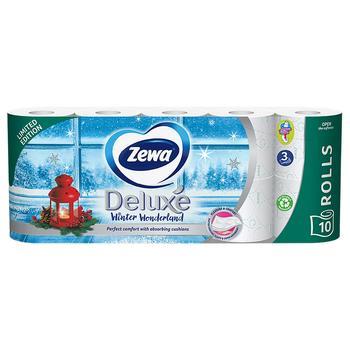 Туалетная бумага Zewa Deluxe белая 3 слоя 10 рулонов лимитированная коллекция - купить, цены на Novus - фото 3