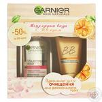 Промонабір Секрет досконалості комплексний зволожуючий крем з тональнимефектом з міцелярною водою для очищення шкіри обличчя Garnier Skin Natural