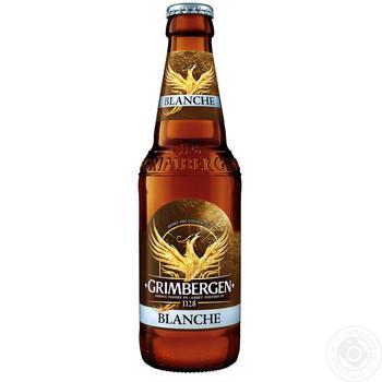 Grimbergen Blanche light unfiltered beer 5.65% 0.33l - buy, prices for Novus - image 1