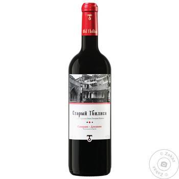 Вино GWS Старый Тбилиси Саперави-Дзелшави красное сухое 13.5% 0.75л - купить, цены на Фуршет - фото 1