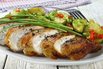 Курица с брюссельской капустой
