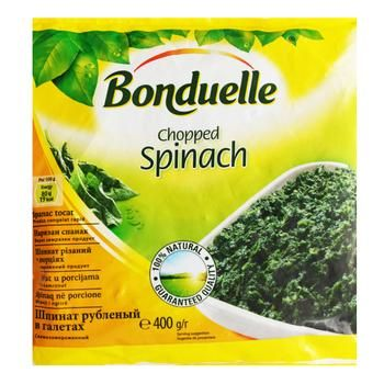 Шпинат Bonduelle резанный порционный 400г