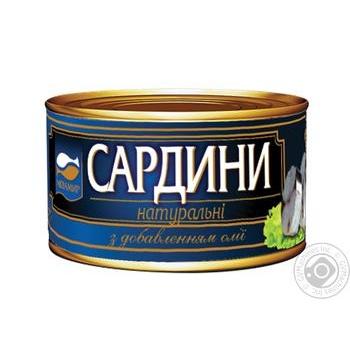 Косерва рыбная Аквамир скумбрия стерилизованная натуральная с добавлением масла 230г - купить, цены на Novus - фото 5
