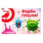 Gouache Auchan Auchan 6colors for drawing 60ml