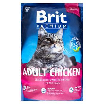 Корм сухий Brit Premium з куркою для котів 1,5кг - купити, ціни на Ашан - фото 1