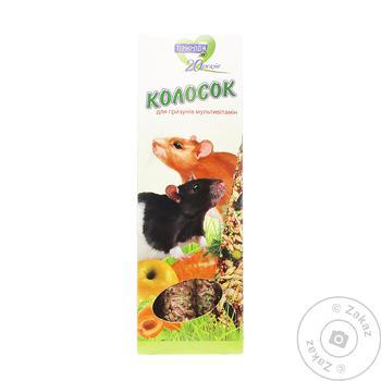 Колосок для гризунів Природа мультивітамін 140г - купити, ціни на МегаМаркет - фото 1