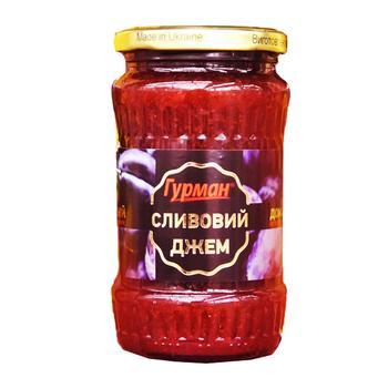 Джем Гурман сливовый 400г - купить, цены на Ашан - фото 1