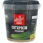 Vegetables cucumber Chudova marka salt 600g