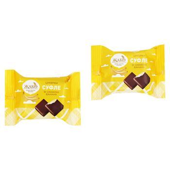 Конфеты Жако Суфле со вкусом банана весовые - купить, цены на Ашан - фото 1