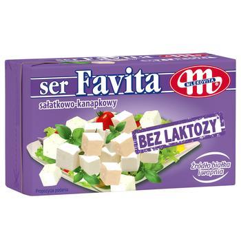Сыр Mlekovita Favita мягкий без лактозы 45% 270г