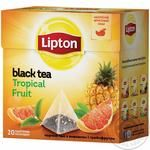Tea Lipton tropical fruit black packed
