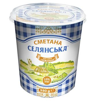 Selianska Sour Сream 15% 350g