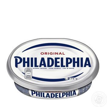 Сыр мягкий Kraft foods Филадельфия оригинальный 69% 175г