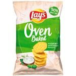 Чіпси Lays Запечені смак йогурт і трави 125г