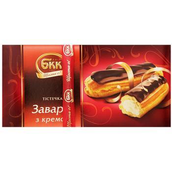 Пирожные БКК заварные с кремом 420г картонная коробка Украина