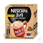 Напиток кофейный Nescafe 3в1 Ultra Creamy растворимый в стиках 20*13г