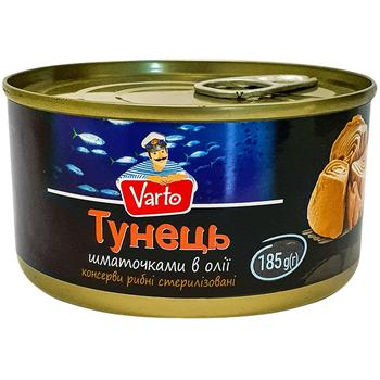 Тунець Varto шматочками в олії 185г