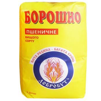 Мука Добробут пшеничная высшего сорта 1кг