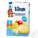 Каша сухая молочная Lino кукуруза с яблоком и грушей 190г