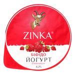 Біфідойогурт Zinka з козиного молока з полуницею 4,2% 100г