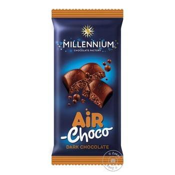 Шоколад Millennium черный пористый 80г - купить, цены на ЕКО Маркет - фото 1