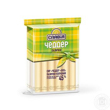 Slavia Cheddar cheese sticks smoked 45% - buy, prices for Auchan - image 1