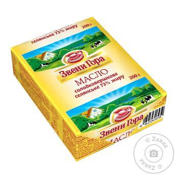 Масло Звени Гора крестьянское сладкосливочное 73% 200г - купить, цены на МегаМаркет - фото 1
