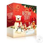 Подарочный набор Liora Веселых Праздников косметический детский Гель для душа Мандарин 250мл + Крем мыло Шоколад 250мл