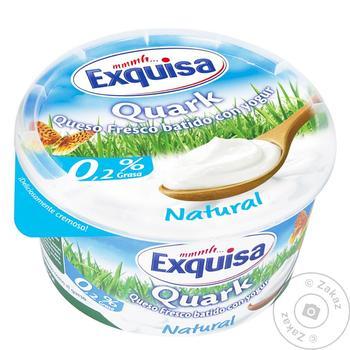 Десерт Exquisa творожный натуральный 0,2% 500г - купить, цены на Ашан - фото 1