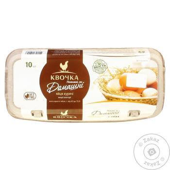 Яйца Квочка Домашние куриные С0 10шт - купить, цены на Восторг - фото 1