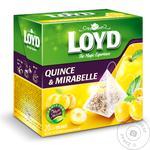 Чай Loyd слива мирабель и айва фруктовый в пирамидках 20шт*2г