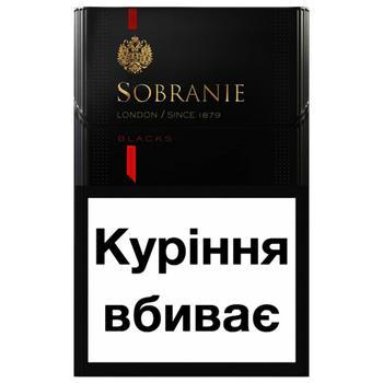 Сигареты Sobranie КS SS Blacks - купить, цены на СитиМаркет - фото 1