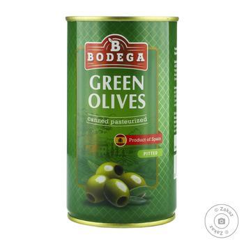 Оливки Bodega зеленые без косточки 350г - купить, цены на Novus - фото 1