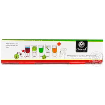 Набор рюмок Glasmark Shot цветное дно 25мл 6шт - купить, цены на МегаМаркет - фото 2