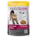Food Nutrilove with chicken in sauce for cats 85g