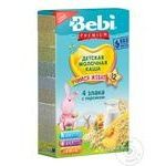 Bebi Premium 4 Cereals With Cream And Peach For Babies From 12 Months Milky Porridge 200g - buy, prices for Furshet - image 1