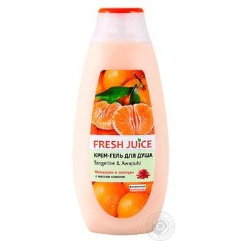 Крем-гель для душу Fresh Juice Tangerine & Awapuhi 400мл - купити, ціни на CітіМаркет - фото 1