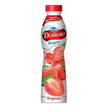 Йогурт Дольче клубника 2,5% 500г