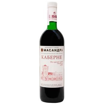 Massandra Cabernet Wine red dry 9.5-14% 0,75l - buy, prices for Auchan - photo 1