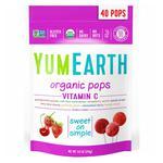 Льодяники YumEarth з вітаміном С органічні Полуниця вишня малина 87г
