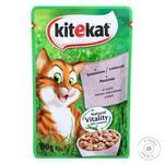Корм для котів Kitekat з лососем 100г - купити, ціни на ЕКО Маркет - фото 1