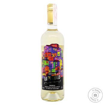 Вино Los Faroles белое сухое 10% 0,75л