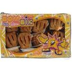 Печенье Бом-бик Сумасшедшее с клубничным вкусом слоеное 400г