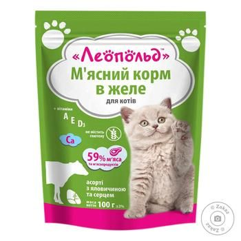 Leopold Food for Cats Assorted in Jelly 100g - buy, prices for Furshet - image 1