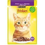 Friskies Cats Food with Lamb Pieces in Sauce 85g