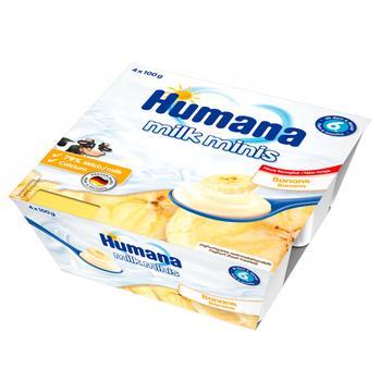 Продукт кисломолочный Humana Milk minis Банан для детей с 6 месяцев 4*100г - купить, цены на СитиМаркет - фото 1