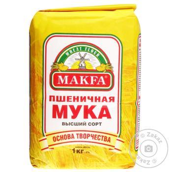 Makfa Premium wheat flour 1000g - buy, prices for MegaMarket - image 1