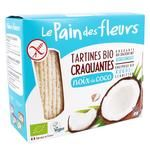Хлібці Le Pain des fleurs з кокосом хрусткі органічні безглютенові 150г